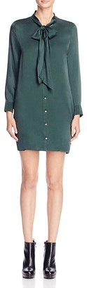 Equipment Leema Tie Silk Shirt Dress $358 thestylecure.com