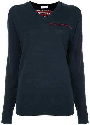 Sonia Rykiel logo back V-neck sweater