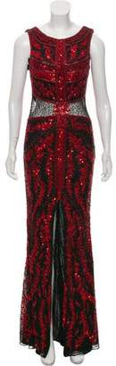 Terani Couture Sequined Evening Dress