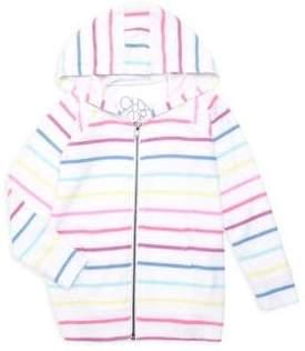 Chaser Little Girl's & Girl's Rainbow Stripe Hoodie