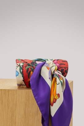 Gucci Flora Tiger silk scarf