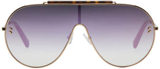 Stella McCartney Rose Gold Shield Sunglasses
