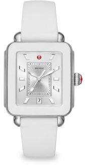 Michele Deco Sport Stainless Steel& Silicone Strap Watch