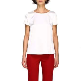 Emporio Armani Top Short-sleeved Silk Shirt
