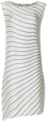 Issey Miyake striped pleated midi dress