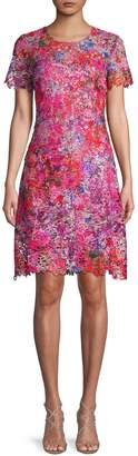 Elie Tahari Ophelia Floral Lace Sheath Dress