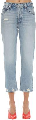 Mother The Tomcat Distressed Cotton Denim Jeans