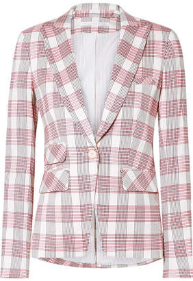 Veronica Beard Khan Checked Canvas Blazer - Red