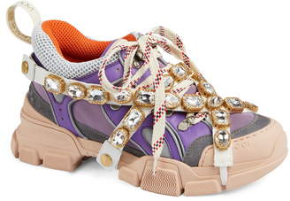 071897a08 Gucci Flashtrek Jewel Embellished Sneaker