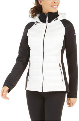 Calvin Klein Mixed-Media Quilted Jacket
