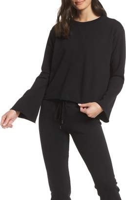 David Lerner Raw Hem Crop Pullover