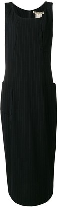 Comme des Garcons Pre-Owned 1992 pinstriped midi dress