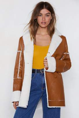 Nasty Gal There Fur You Faux Fur Coat