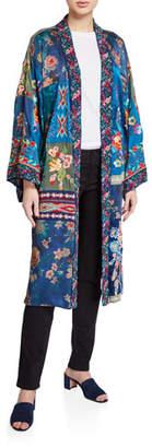 Johnny Was Hazel Silk Long Kimono