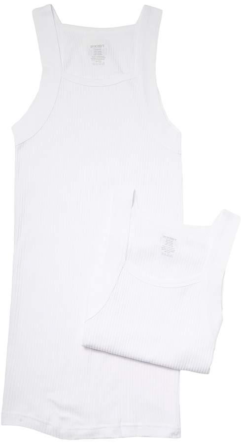 2(X)IST 2IST - 2-Pack ESSENTIAL Square-Cut Tank Men's Underwear