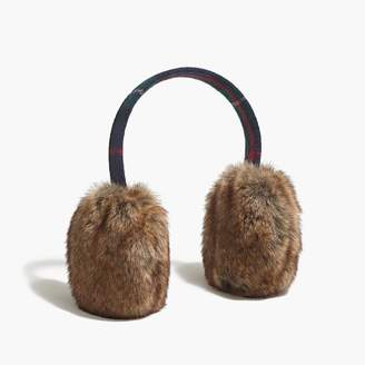 J.Crew Plaid faux-fur earmuffs