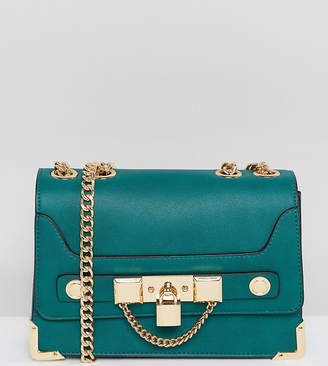 Aldo chain and padlock crossbody in green