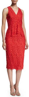 Shoshanna Sleeveless Lace Peplum Cocktail Dress $440 thestylecure.com