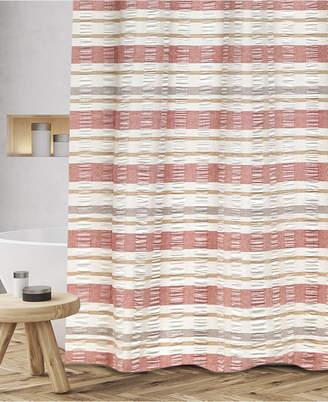 """Popular Bath Baltic Cotton Textured Stripe 72"""" x 72"""" Shower Curtain Bedding"""