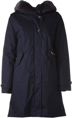 Woolrich Blue Hooded Winter Coat