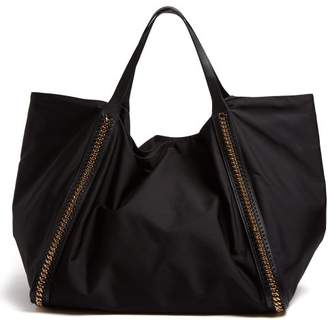 Stella McCartney Falabella Go Oversized Eco Nylon Tote Bag - Womens - Black