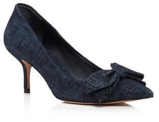 Tory Burch Women's Rosalind Pointed Toe Kitten Heel Pumps