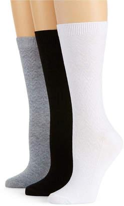 JCPenney MIXIT Mixit 3pk Textured Crew Socks