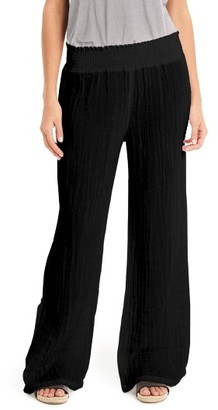Women's Michael Stars Smocked Wide Leg Pants $128 thestylecure.com