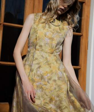 Rosso (ロッソ) - ROSSO フラワープリントドレス