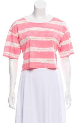 Kenzo Striped Short Sleeve Crop Top