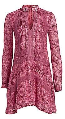 Derek Lam 10 Crosby Women's Floral Embroidered Peasant Dress