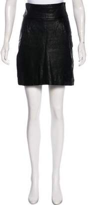Jenni Kayne Leather Knee-Length Skirt