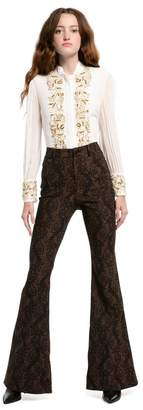 Alice + Olivia Kayleigh Shimmer Bell Pant