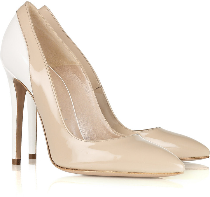 Versace Two-tone patent-leather pumps