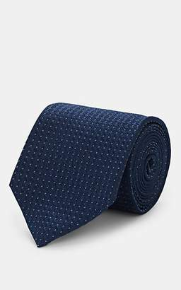 Isaia Men's Pin-Dot Silk Necktie - Navy