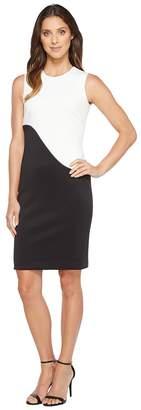 Calvin Klein Color Block Sheath Dress Women's Dress