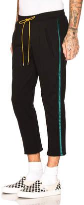 Rhude Traxedo Pant in Black & Green | FWRD