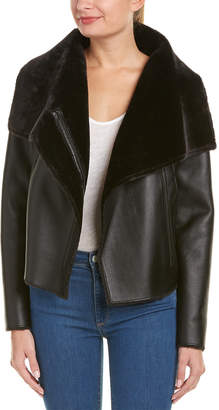 BCBGMAXAZRIA Clint Draped Collar Jacket