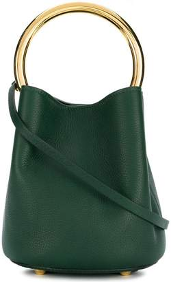 Marni metallic handle tote bag