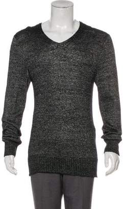 John Varvatos Long Sleeve V-Neck Sweater