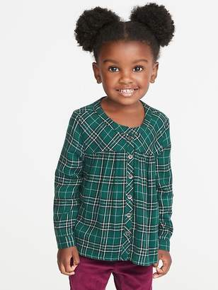 Old Navy Plaid Button-Front Shirt for Toddler Girls