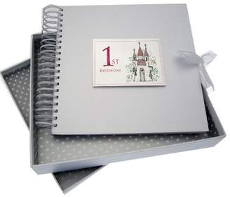 White Cotton Cards Castle Age 1 Card and Memory Book, Code CAS10