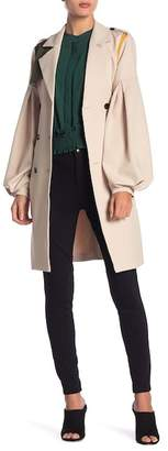 Endless Rose Trench Coat With Exaggerated Sleeve