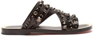 Christian Louboutin Black stud-embellished leather sandals