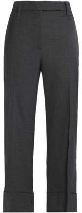 Wool Kick-Flare Pants
