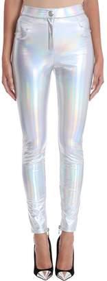 Balmain Slim-fit Silver Iridescent Pants