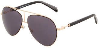 Balmain Metal/Acetate Aviator Sunglasses