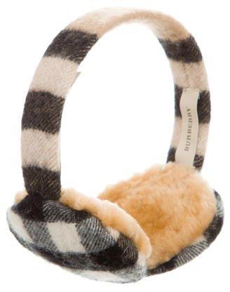 Burberry Burberry Cashmere Check Earmuffs