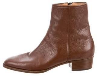 Gravati Leather Round-Toe Ankle Boots