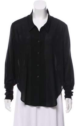 Theyskens' Theory Semi-Sheer Button-Up